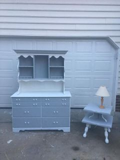Dresser hutch and side table