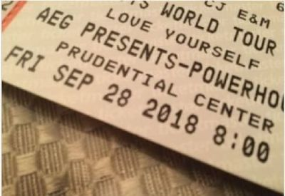 BTS world tour concert ticket Newark, New Jersey GA FLOOR PIT