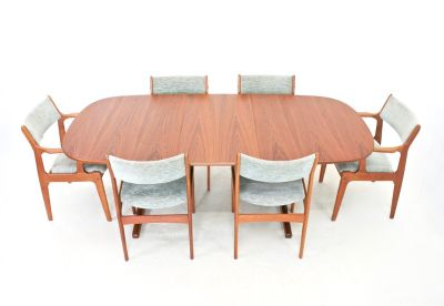 Mid Century Dining Table and 6 Chairs