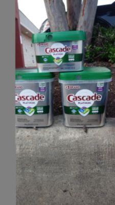CASCADE PLATINUM DISHWASHING PODS