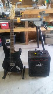 Austin guitar and peavey equalizer