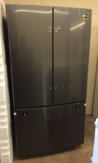 Samsung 25.5cu.ft French Door Refrigerator in Black Stainless