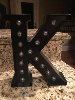 Letter K Lighted Home Decor Piece!