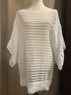 Eight eight eight See-through blouse/swim cover, size extra large