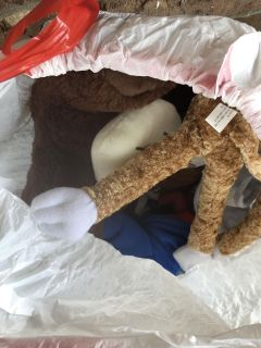 Free bag of boy (under 2t) clothes and stuffed animals