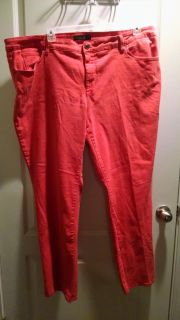 Faded glory size 26 coral jeans