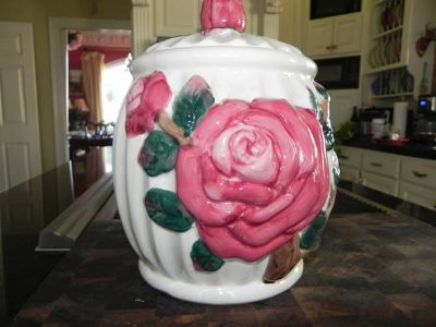 COOKIE JAR-VINTAGE ROSE
