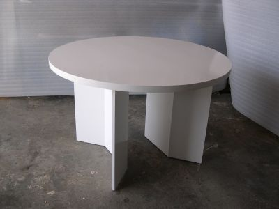 White Lacquer Display Table