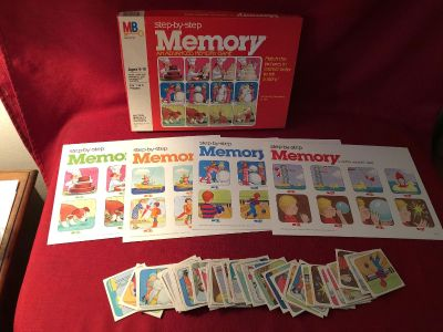 Milton Bradley Step-By-Step Memory . Ages 6 to 10. EUC