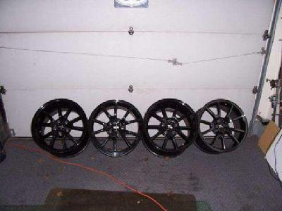 $599 Mustang Black Chrome Wheels (Boise)