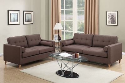 NEW SOFA AND LOVE SET CHOCOLATE COLOR FREE DELIVERY