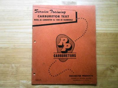 Sell Rochester Carburetor AA Service Training Manual 1949-50 Oldsmobile RP Form 1155 motorcycle in San Antonio, Texas, United States, for US $9.95
