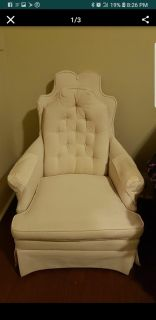 Cream colored chair