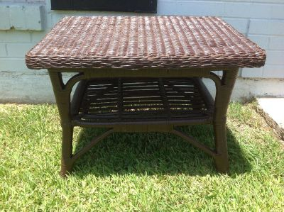 Wicker and Wood CoffeeTable