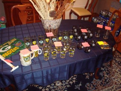 Authentic Promo GREEN BAY PACKER Collectibles Glasses Flag Mug & More!