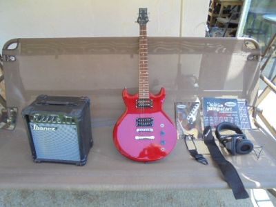 "ibanez Electric Guitar- ""Bright Red"""