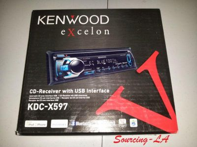 Sell Kenwood KDC-X597 Excelon Single Din In-dash Car Stereo Receiver motorcycle in Perris, California, US, for US $186.71