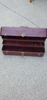 Vintage fishing tackle box