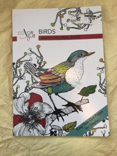 NEW Birds Adult Coloring Book
