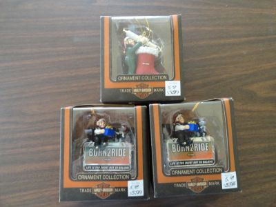 HARLEY DAVIDSON (BORN TO RIDE ORNAMENTS) 3 EA