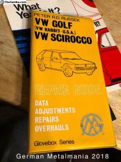 NOS VW Rabbit/Golf/ Scirocco repair guide