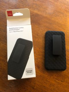 I Phone 8 black clip and case stand