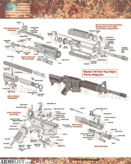 "For Sale: AR15 16""X20"" Diagram Poster"