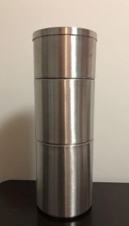 IKEA stainless steel canister set