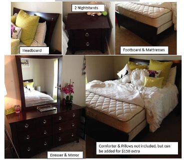 $1,000, 8 piece queen size bedroom set