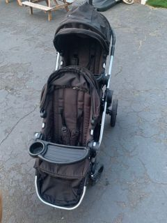 Baby Jogger DOUBLE w travel bag and car seat adapter