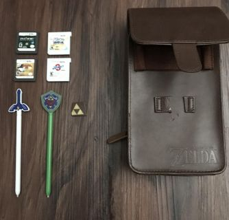 Nintendo 3ds case and games