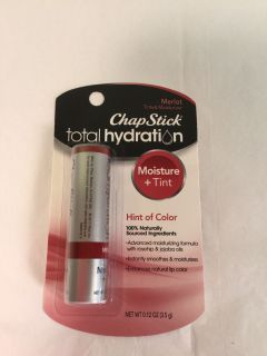 Chapstick total hydration moisture and tint. Hint of color Merlot