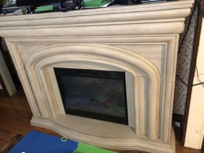 Electric fireplace heater/tv stand