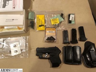 For Sale: Ruger LCP Custom with Night sights Crimson trace Adjustable Trigger