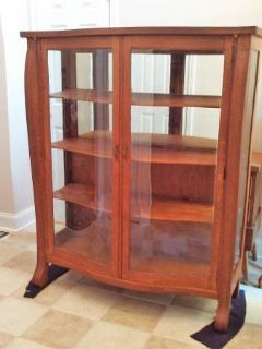 Antique China/Curio Cabinet Solid Oak
