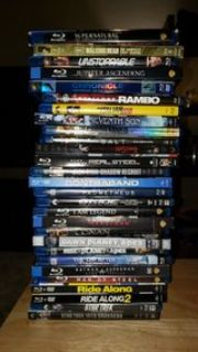 assorted blu ray movies