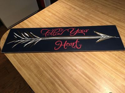 8.5x30 wooden sign .... used in great shape