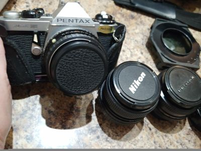 Pentax ME Camera and tons of lenses