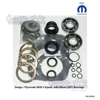 Purchase Dodge Plymouth 61-74 NP A833 Rebuild Kit Car 4 Speed Transmission BK340WS 80mm motorcycle in Canyon Country, California, United States, for US $129.50
