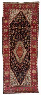 Handmade antique Caucasian Karabagh rug, 1B492