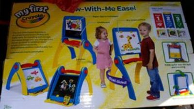 New in Box - Crayola Grow with Me Art Easel chalkboard dry erase board