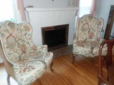 Queen Anne style matching chairs