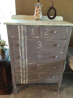 COUNTRY FARMHOUSE VINTAGE DRESSER..6 drawers..custom finished in farmhouse style