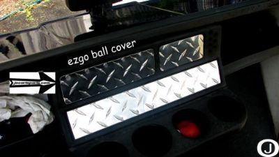 Sell Ezgo Golf Cart Diamond Plate Ball Holder Cover -also available in stainless! motorcycle in Elmwood Park, Illinois, United States, for US $8.50