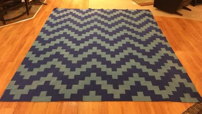 8x10 Blue & Turquoise Area Rug