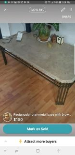 Marble top coffee and 2 end tables
