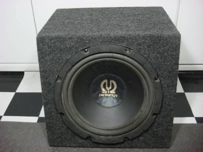 "PIONEER 12"" SUBWOOFER/SUB IMPP with ENCLOSURE BOX"