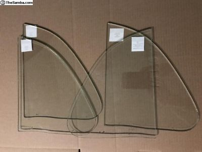 (4) Oval Vent Wing Glass to 1964 SEKURIT Beetle