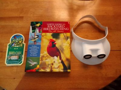 Bird Watching Items - Bird Watching Book- Bird Call Whistle- Bird Watching Visor Maginifed Lens