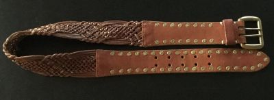"""Women's Lucky Brand brown leather belt 32"""" sz S small"""